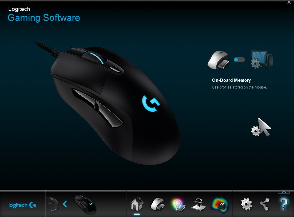 logitech g403 gaming software